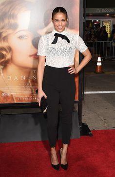 Menswear Chic at the 'The Danish Girl' Premiere - Style Crush: Paula Patton - Photos