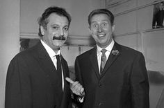 Two great French music legends: Georges Brassens and Charles Trenet