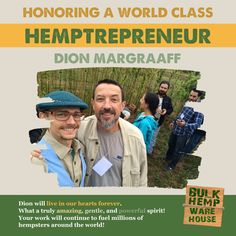 Dion Markgraaff - Wow. What a journey. You did so much for the hemp industry and movement and we will forever remember your sweet, gentle, yet powerful presence. Your work will continue to fuel hempsters around the world, and you will never be forgotten. Thank you for your service and inspiring so many to be a part of this monumental movement. We LOVE YOU! @henryvallesatx @artisanhemp @ushempbuildingassociation @hemptraders @hempzoo @vitalhemp @votehemp @drbronners @dougfine You Working, Hemp, Warehouse, Around The Worlds, Love You, Journey, Sweet, Candy, Te Amo