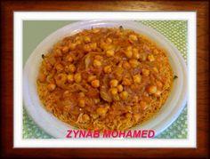 [ المكرونة الشعيرية المسقية بالبُصلة ] من المطبخ الليبي لزينب محمد