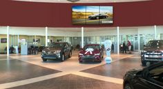 Dynamic Video Wall Content for Car Dealership Showroom Digital Signage | The Automotive Broadcasting Network http://www.abnetwork.com