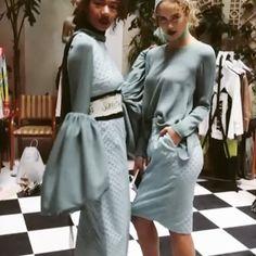 backstage vibes 💫 #mbfw #S18 #vincent Anja Gockel, Backstage, Coat, Jackets, Fashion, Down Jackets, Moda, Sewing Coat, Fashion Styles