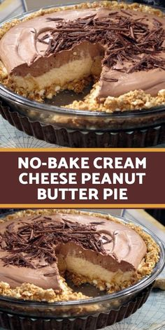 INGREDIENTS CRUST: 1 cups salted pretzels 6 tablespoons unsalted butter, melted cup brown sugar FILLING: cup cream cheese, softened cup smooth peanut butter cup brown sugar cup whipping cream, w Peanut Butter Desserts, Köstliche Desserts, Delicious Desserts, Peanut Butter Chocolate Pie, Chocolate Ganache, Chocolate Chips, Chocolate Whipped Cream, Butter Pie, Butter Crust