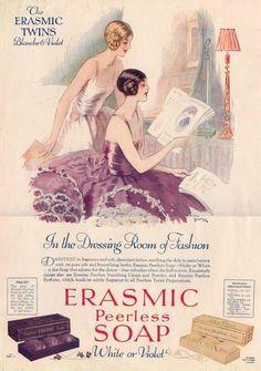 1920 Erasmic Soap ad.