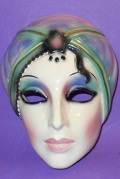 1990 Clay Art San Francisco Mask Flapper