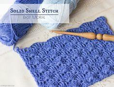 How to #crochet solid shell stitch~free tutorial on #HopefulHoney