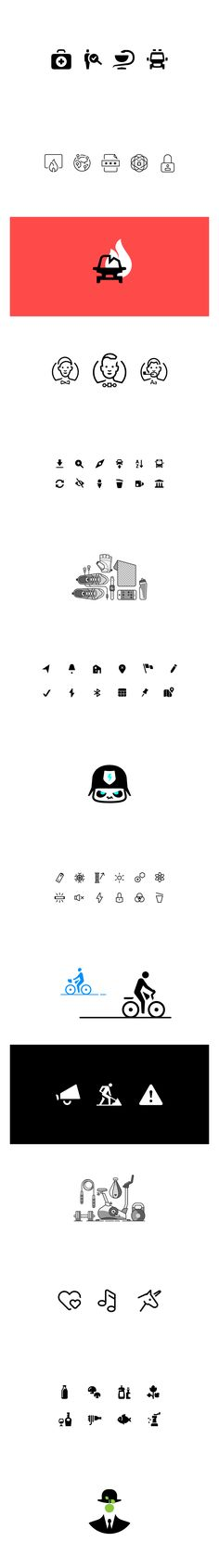 Various icons and pictograms 2015