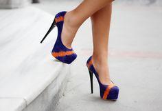 orange stripes on blue. lovely