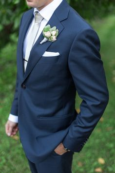 Classic Groom in Navy Blue   Royce Sihlis Photography and Created Lovely Events   Sparkling Blush and Champagne Wedding in an Apple Orchard