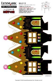 Printable Little Glitter Houses | mini christmas printable (glitter house possibilities)