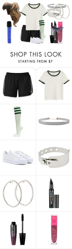 """""""Lillian Lockstar In """"Russian Roulette"""""""" by shestheman01 ❤ liked on Polyvore featuring The North Face, H&M, Humble Chic, adidas, Cast of Vices, Benefit, NYX, Swarovski, Jeffree Star and Manic Panic NYC"""