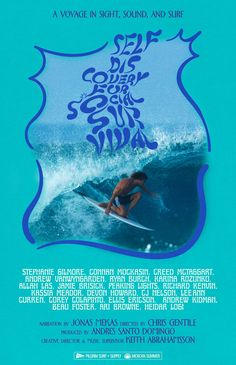 """Surfing documentaries and cool soundtracks often go hand-in-hand, but this year's 'Self Discovery for Social Survival"""" has both sides working more in tandem. Collage Des Photos, Photo Wall Collage, Picture Wall, Room Posters, Poster Wall, Poster Prints, Surf Posters, Movie Posters, Surf Music"""