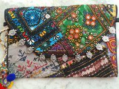 Black Banjara Patchwork Clutch Bag