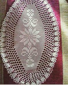 Crochet Tablecloth, Crochet Doilies, Crochet Carpet, Filet Crochet, Diy And Crafts, Centerpieces, Crochet Patterns, Cross Stitch, Knitting