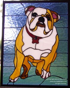 Stained glass is a beautiful way to capture your pet.  Check out the work of Maker Monique Hunter at www.custommade.com #petportrait #stainedglass #custommade