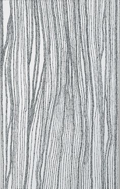"Dorothy Napangardi, ""salt on Mina Mina"" 2005, acrylic on linen, 198 x 122cm"