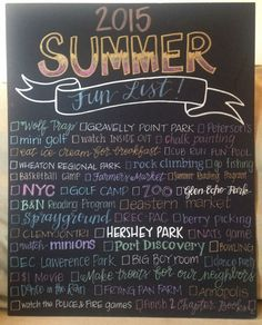 Summer Fun List 2015