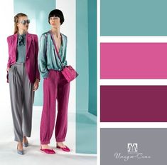 Colour Combinations Fashion, Color Combinations For Clothes, Color Blocking Outfits, Fashion Colours, Pink Fashion, Colorful Fashion, Color Combos, Fashion Outfits, Vetement Fashion