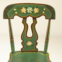 tole painted chair(decals)