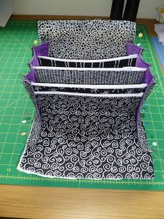 So the next modification I made was to the bottom edge of the sides, I made a little seam 4 stitches long at the bottom of each of the .Quilting in chaos: Bionic gear bag part 2 Sewing Hacks, Sewing Tutorials, Sewing Crafts, Sewing Projects, Patchwork Bags, Quilted Bag, Bag Patterns To Sew, Sewing Patterns, Sew Together Bag