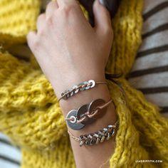 DIY Metal Washer Bracelet