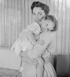 Shirley and her little girl: Lori was Temple's daughter with second husband Charles Black. Pictured above in June 1956 at the Black family's...