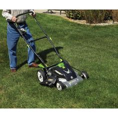 "Black Electric Wiring 40-Volt Cordless 18"" Mulching and Bagging Lawn Mower   #Lawnmower"