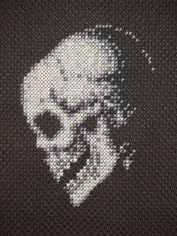 small skull cross stitch pattern - Google Search