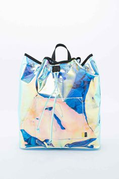 iridescent | mother-of-pearl | gleaming | shimmering | metallic rainbow | shine | UNIF - Sac à dos Vapor irisé