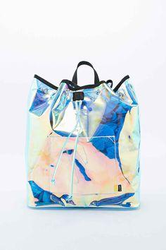 iridescent | mother-of-pearl | gleaming | shimmering | metallic rainbow | shine | UNIF - Sac à dos Vapor irisé