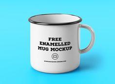 5 Free Enamel Mug Mockups for Present Your Design - http://smashfreakz.com/2017/07/free-enamel-mug-mockup/