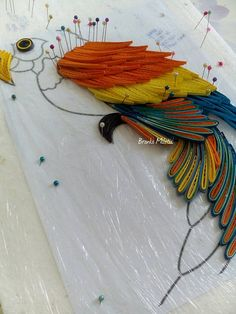procedure, quilling parrot, Branka Miletić!