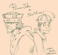 Prince John and Sir Hiss by chacckco on deviantART