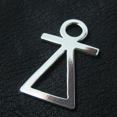Silver Phoenician Tanit goddess pendant from The Sunken City by DaWanda.com