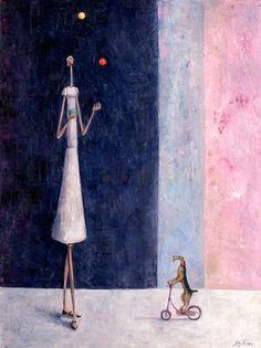 Britain's Got Talent by Sarah Jane Szikora  Title: Britain's Got Talent  Medium: Original - Oil on Canvas  Image Size: 60cm x 45cm
