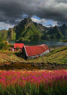 Svolvaer, Norway. Lofotens are so beautiful.