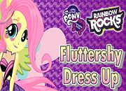 juegos Rainbow Rocks Fluttershy Dressup
