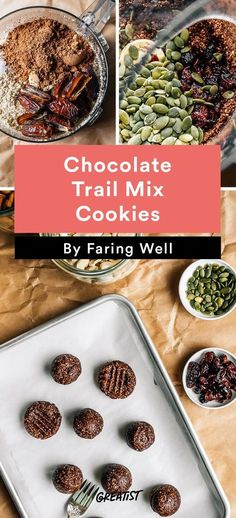 3. Chocolate Trail Mix Cookies #healthy #summer #snacks http://greatist.com/eat/healthy-summer-snacks-that-dont-require-a-cooler