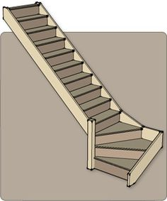 Quarter Turn Staircases - Produced flat pack by Rapid Stair Kits of Hull