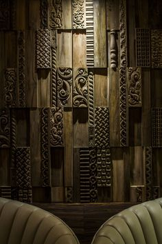 Mister Important Design have designed the interiors for the Hard Rock Hotel in Palm Springs, California. Design: Mister Important Design Photography: Paige Wooden Wall Panels, Wooden Walls, Interior Exterior, Interior Walls, Interior Design, Door Design, Wall Design, Hard Rock Hotel, Wall Cladding