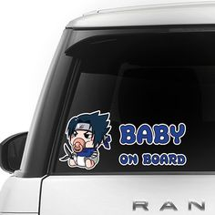 [ Sasuke Uchiha ] BABY ON BOARD SERIES FOR CAR $9.99 + Free Shipping   Awesome Gift for Baby Shower Decal Sticker Sign Vinyl Pregnancy Motherhood Maternity Newborn Expecting Birth Child Safety Little Princess in Car Present BIMBO A BORDO BÉBÉ À BORD BEBÉ A BORDO BABY AN BORD BEBÊ A BORDO