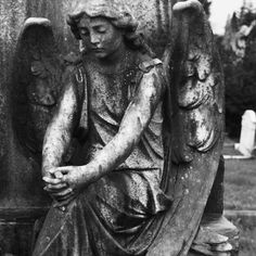 """Gothic Angel Statues - """"She looks like she's listening to the Soul she's been assigned to."""""""
