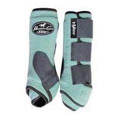 Exclusive Color SMB Ventech Elite Sports Medicine Horse Boots Value Pack Mint/Charcoal - Item # 42087
