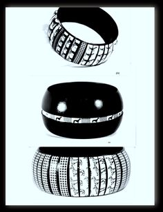 Animal Print Fashion Bangles get a Quirky  Makeover by Efkwearableart