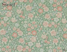 Pastel bloemetjes behang | Swiet