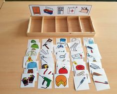 Printable Bugs Matching File Folder Game- Easy Peasy and Fun Preschool Learning Activities, Infant Activities, Educational Activities, Preschool Activities, Teaching Kids, Montessori Toddler, Montessori Materials, Kids Education, Kids And Parenting