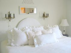 gorgeous pillows by ticking and toile on etsy