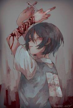 Anime Furry, Sad Anime, Cute Anime Boy, Anime Guys, Anime Art, Scary Art, Creepy, Yandere, Anime Triste