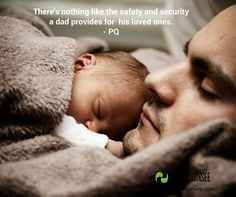Never underestimate the security a father's love provides. #father #love #safe #secure