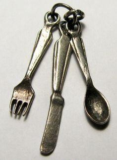 Vintage Sterling Silver SET OF CUTLERY
